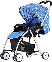 MNBV Cochecito de bebé, Cochecito de bebé Compacto y Ligero, Cochecito de bebé reclinable Carro de bebé Ultraligero (Color: Estrella)
