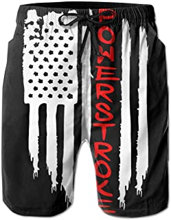Hdecrr FFRE American Flag Peterbilt Men Summer Casual Board Shorts Quick Dry Board Shorts with Pockets