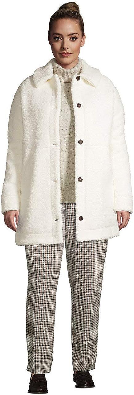 Lands' End Women's Cozy Sherpa Fleece Teddy Coat