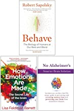 Behave, How Emotions Are Made The Secret Life of the Brain, No Alzheimer's Smarter Brain Keto Solution 3 Books Collection Set