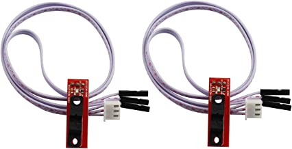 Tegg 2PCS Optical Light Control Endstop End Stop Limit Switch with 3 Pin Cable for 3D Printer RAMPS 1.4