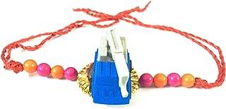 Global Mantra Colorful Mini Crane Toy Eraser Rakhi for Kids Brother Gift Toy Pencil Eraser Rakhi(Random Color)