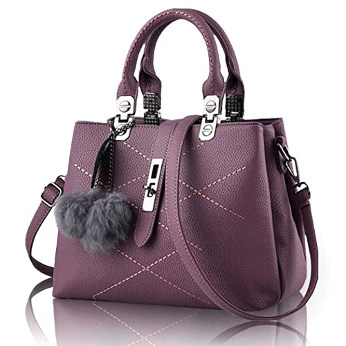 3761965694 KAMIERFA 2019 Spring Designer Collection Fashion Handbag with Pompon  Pendant, Classic Women Purse, Handbag