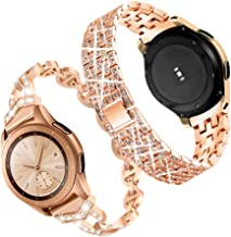 Compatible for Galaxy Watch 42mm Band,20mm Women Bling Stainless Steel Metal Replacement Bracelet Strap for Samsung Galaxy...