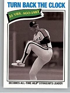 2018 Topps Archives Baseball #317 Nolan Ryan Houston Astros Rare Short Print SP