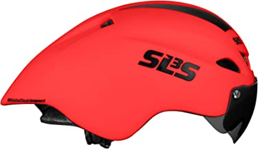 SLS3 Time Trial Aero Helmet (CSPC) | TT Triathlon Bike Helmet | Removable Shield Visor | Time Trial | One Size - 21-23 Inches | German Designed