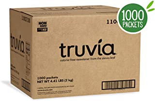 Truvia Natural Stevia Sweetener Packets, (Net Wt. 70.5 oz), 1000 Count (Pack of 1)