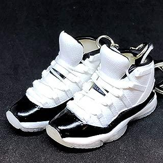 Pair Air Jordan XI 11 High Retro Concord Black White Sneakers Shoes 3D Keychain 1:6 Figure
