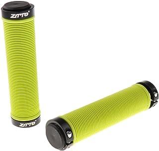 MagiDeal MTB Mountain Bike Handlebar Grips Silicone Gel Lock on Anti Slip Ergonomic Bicycle Handle Bar Grips & End Plugs