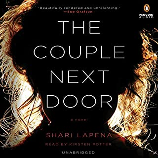 The Couple Next Door     A Novel              By:                                                                                                                                 Shari Lapena                               Narrated by:                                                                                                                                 Kirsten Potter                      Length: 8 hrs and 40 mins     13,284 ratings     Overall 4.1