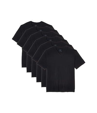 Jockey V-Neck T-Shirt 6-Pack (Black) Men