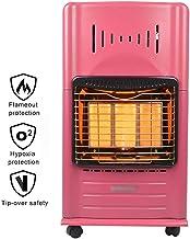 Estufa Gas Infrarroja, Calefactor de Cerámica de GLP o Gas Natural, con protección vuelcos, 3 configuraciones de calefacción, Portátil Ruedas Hogar, Oficina, Garaje
