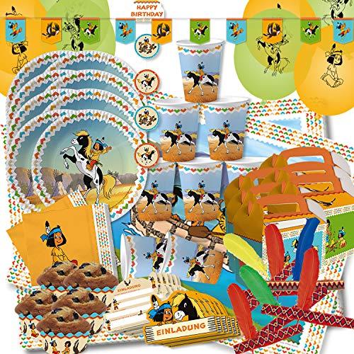 Krause & Sohn Party-Set Kindergeburtstag viele Teile Geschirr Geburtstag Dekoration Geburtstagstisch (Yakari XXL)