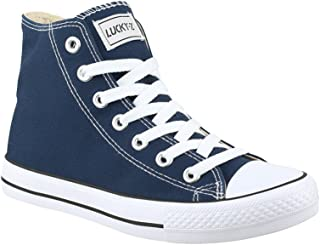Elara Chaussures de Sport Unisexe Baskets Hautes Chunkyrayan 014-A-Blau-42