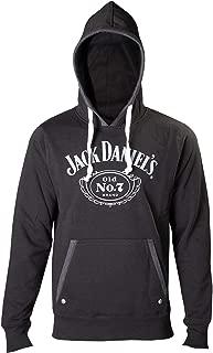Jack Daniels Hoodie Old No 7 Logo Official Mens Black Pullover