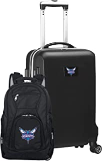 NBA Deluxe 2-Piece Backpack & Carry-On Set, Black