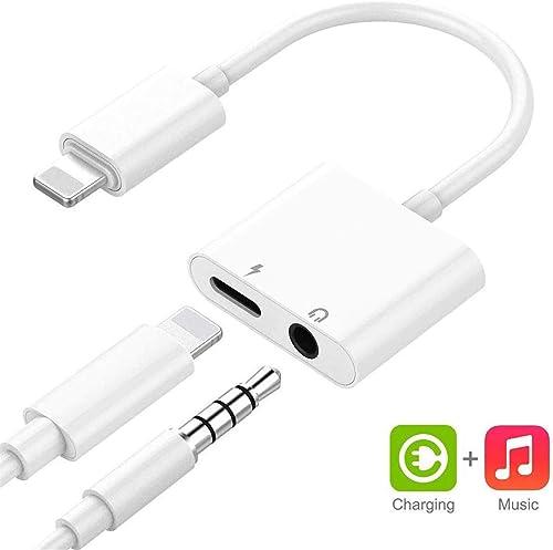 Level 3,5-mm-Audio-Kopfh/örer-Adapter Telefon-Kopfh/örer-Adapter Ersatz f/ür iPhone 7 7Plus 8 8Plus X