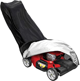 Lawn Mower Cover Upright Lawn Mower Cover 210D Polyester Waterproof Dustproof All-Weather Outdoor/Indoor Anti-UV Protector...