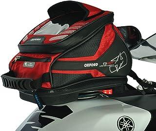 c177f8e6b33 Oxford q4r moto motocicleta bolsa de depósito de liberación rápida, rojo 4  litros