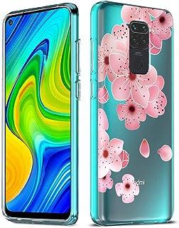 ZhuoFan Xiaomi Redmi Note 9 Case, Phone Case Transparent Clear with Pattern [Ultra Slim] Shockproof Soft Gel TPU Silicone ...