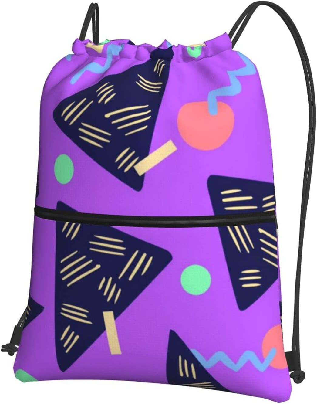 Vintage 80s 90s Triangle Drawstring C Backpack Recommendation Waterproof Sales Zipper