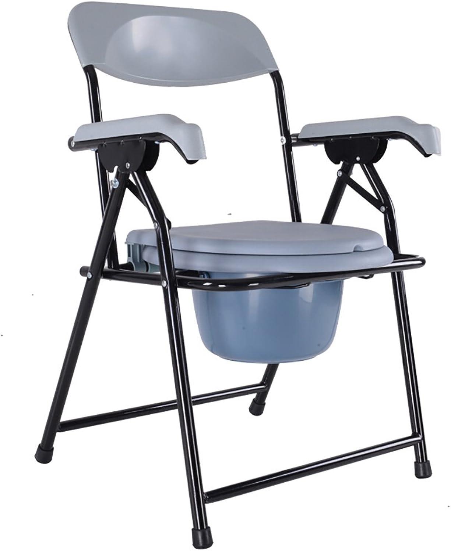PIGE Bettsoilette Badstuhl Toilettenstuhl Toilettenstuhl Steel Pipe Leicht faltbar Geeignet für Senioren, Behinderte, Schwangere