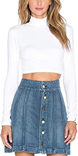 Best floral turtleneck crop top Reviews