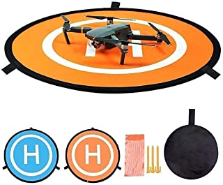 Drone Landing Pad, Waterproof 22'' Universal Landing Pads Fast-fold Double Sided Quadcopter Landing Pads for DJI Mavic PRO...