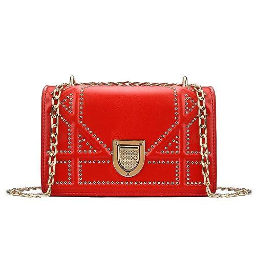 324ad56c2 Olyphy Designer Leather Shoulder Bag for Women,Fashion Chain Crossbody Bag  Small Purse