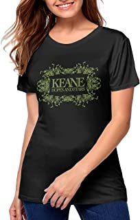 Women's Keane Hopes and Fears Music Band T Shirt Funny