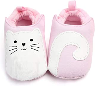 Baby Boys Girls Cute Cartoon Shoes Soft Sole Warm House Slippers First Wakers Crib Shoes