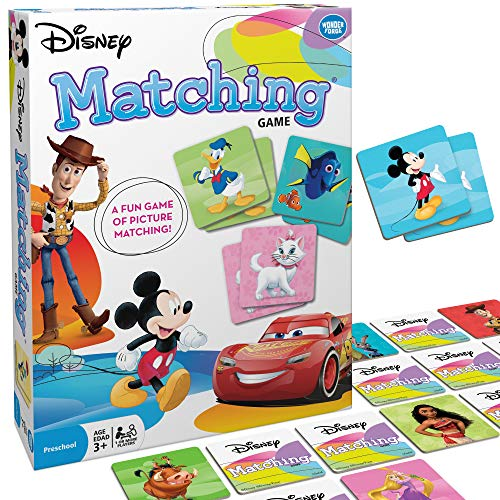 Wonder Forge Disney Classic Characters Matching Game for Boys amp Girls Age 3 to 5  A Fun amp Fast Disney Memory Game