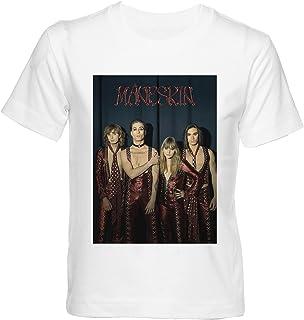 Maneskin Band T-shirt Kinderen Jongens Meisjes Korte Mouw Wit Kids Boys Girls White