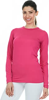 Womens Ultra Soft Thermal Underwear Shirt – Compression Baselayer Crew Neck Top