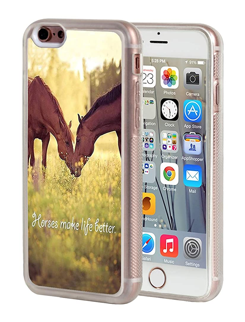 iPhone 6 Case,iPhone 6S Case,BWOOLL Horse Theme Design Slim Anti-Scratch Shockproof Clear TPU Rubber Protective Cover Apple iPhone 6/iPhone 6S (4.7 inch)