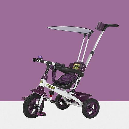 mejor moda Triciclos para Niños 1-6 años de edad Bicicleta para para para bebés Cochecito para bebés Bicicleta para Niños, verde   morado   Color, 75  49  94cm ( Color   púrpura )  los últimos modelos