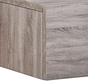 VCM Table de Chevet Dormas, Chêne Sonoma, 15x46x30 cm