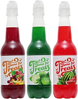 Time for Treats Tropical Punch, Watermelon and Lime Snow Cone Syrup 3-Pack by VICTORIO VKP1107