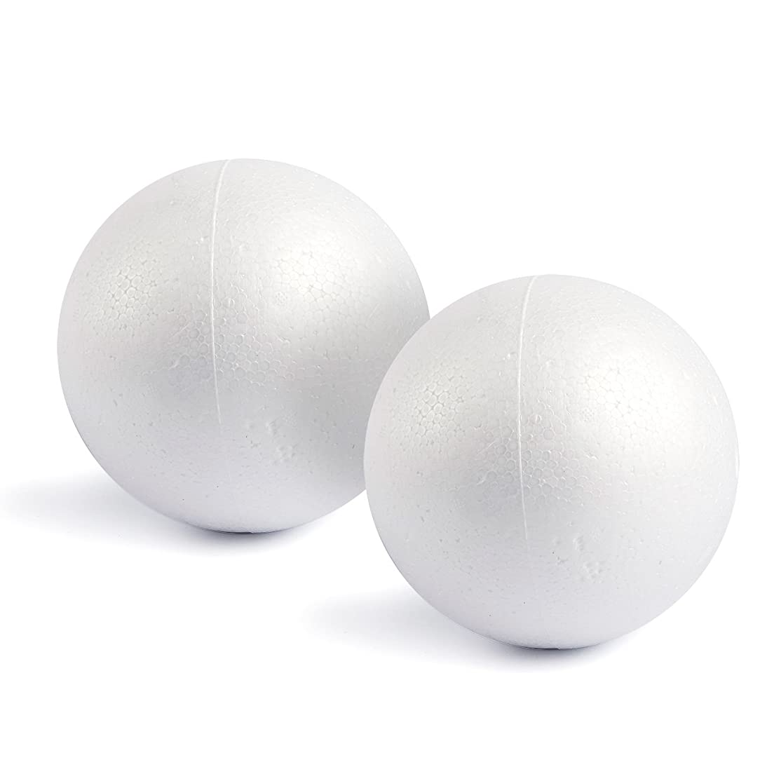 Craft Foam Balls - 2-Pack Large Smooth and Round Polystyrene Foam Balls for Art and Craft Use - Makes DIY Ornaments, Wedding Decor, Science Modeling, School Projects - White, 7.87 Inches in Diameter