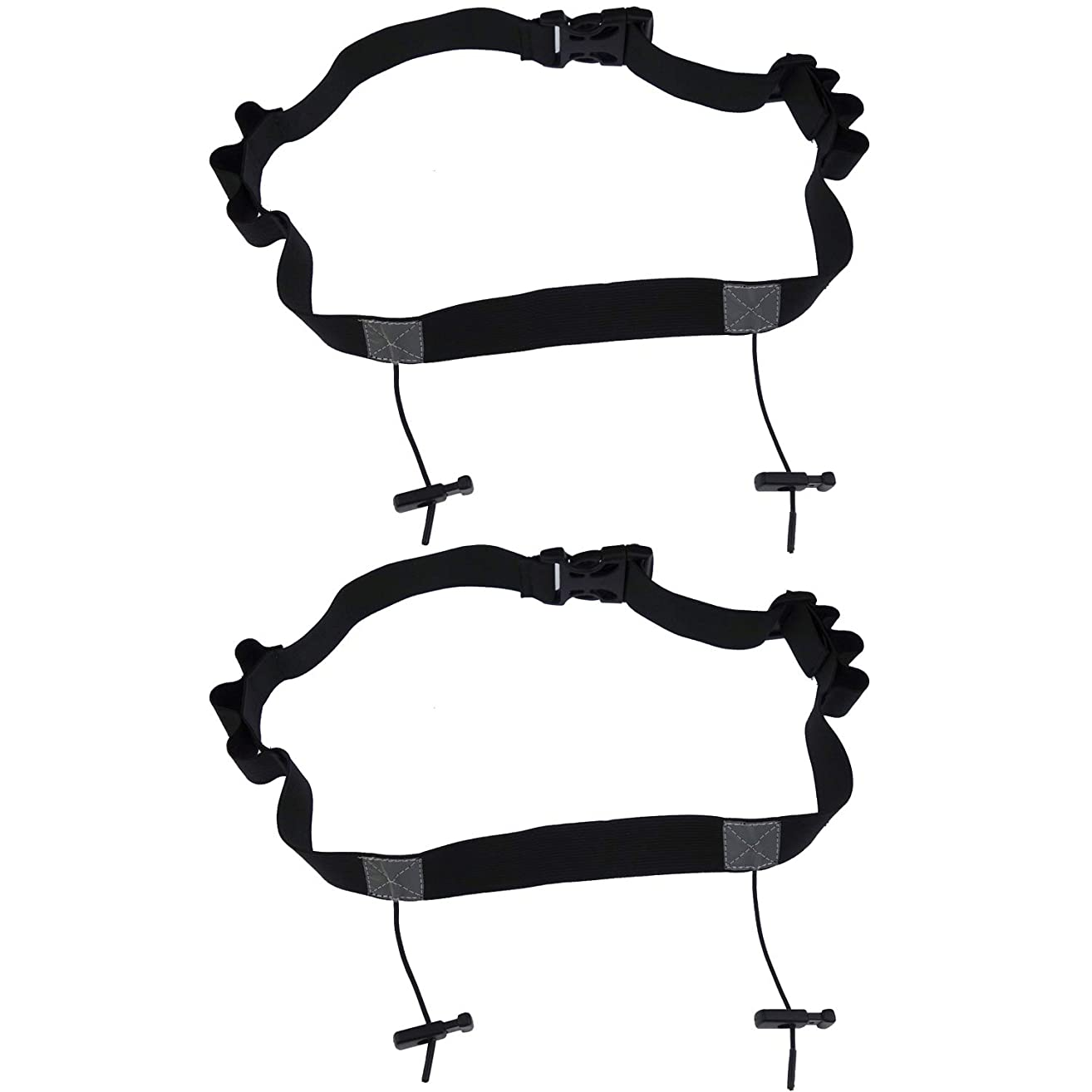 Kasteco 2 Pack Race Number Belt Running Bib Holder for for Running, Cycling, and Triathlon with 6 Gel Loops to attach energy gel