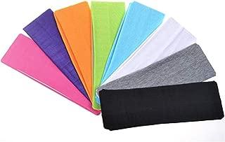 Yoga sports headband, Stretch Cotton Yoga HEADBAND/suitable for women - Soft Elastic Stretch Girls Athletic Headbands (8 different colors)