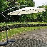 GCX Schatten Sonnenschirm 3 Meter Außenwerbung Innenhof Regenschirm Hotels Sonnenschutz Curved Pole Regenschirm Side Hand Außen Banana Regenschirm tragbar (Color : White)