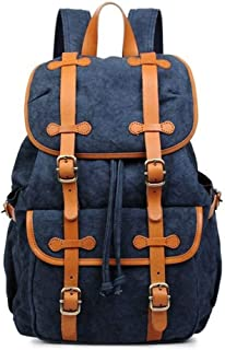 Canvas Retro Style Unisex Travel Laptop Backpack Outdoor Travel Day Bag Travel Backpack (Color : Green, Size : 32 * 16 * 49cm)
