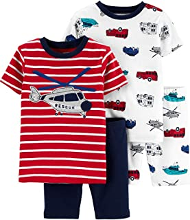 Carter's 4-Piece Toddler and Baby Boy's Sung fit Cotton Pajamas (Helicopter, 5t)