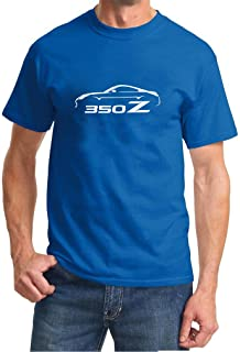 2002-09 Nissan 350Z Coupe Classic Outline Design Tshirt large royal
