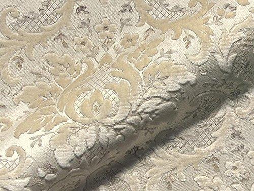 Raumausstatter.de Möbelstoff Tosca 901 Muster Ornamente beige als robuster Bezugsstoff, Polsterstoff beige Gemustert zum Nähen und Beziehen, Viskose, Baumwolle, Polyacryl