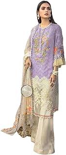 مصمم أسود للنساء المسلمين الهندي/باكستاني بدون كتف مطرز ثقيل فستان ليهينغا زي الحجاب 6069