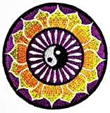 Nipitshop Patches Aum Om Infinity Hindu Hinduism Yoga Circle Yin Yang Applique Novelty Embroidered Patch for Jacket T Shirt Patch Sew Iron on Embroidered Symbol Badge Cloth Sign Costume