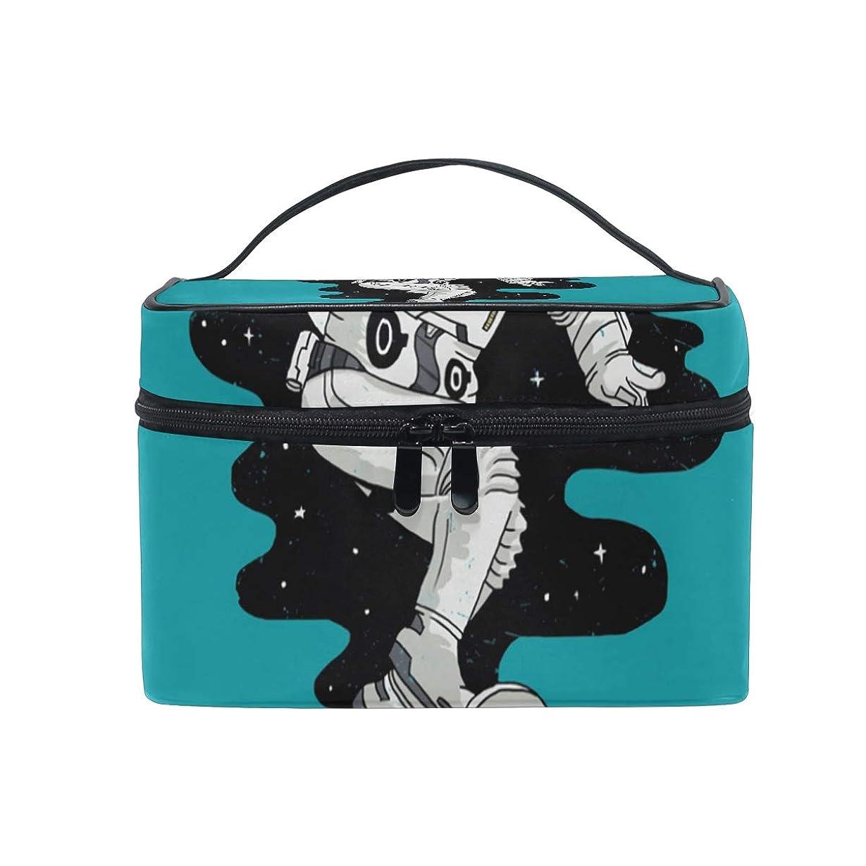 マイルストーンペンス創始者メイクボックス スペーススケートボード柄 化粧ポーチ 化粧品 化粧道具 小物入れ メイクブラシバッグ 大容量 旅行用 収納ケース