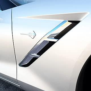 Justautotrim Chrome trims Accessories fog bumper bowl side vent Fit for 2014 2015 2016 2017 2018 Chevrolet Corvette C7 (Front Side Vent)